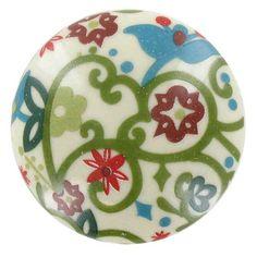 Multi Color Bella Moda Ceramic Flared Knob