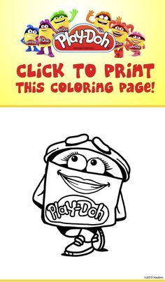 Print out this page and let your kids color in with the Doh-Dohs! #Art #Crafts #Toys #Kids #PlayDoh #Creativity #Coloring #Activities