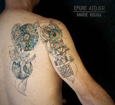 Marie Roura sur Instagram: Pour Gilles suite du projet sur le thème de la #sagradafamília avec alpha-omega, le carré magique et l'escalier en colimaçon #marieroura…