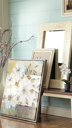 Make a room bloom with oversized floral wall art