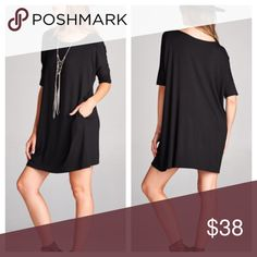 Comfy Black Tunic Available in Sizes S,M,L,XL New with tags  SHIPS 11/7  ✔️Bundle discount: 10% off 2+ items.  ❌No trades clmayfae Tops Tunics