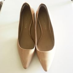 Patent leather heels Super chic and comfy. Wore several time in great conditions. A big bigger for me. Heels around 5 cm. color: nude. See the pics about thr wears and tears Charles & Keith Shoes Heels