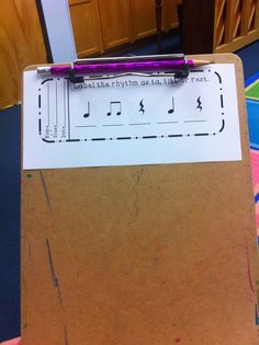 Music with Miss W: Using Exit Slips in Music Class