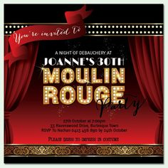 moulin rouge invitation - Google Search