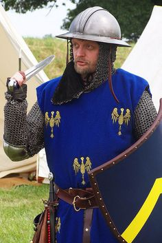 I know this guy!    He's a 14th century reenactor with an eye for detail and an obsession with historical accuracy.