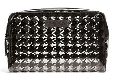 Gorgeous Vera Bradley Large Clear Cosmetic Case in Midnight Houndstooth >>> Additional details at the pin image, click it  : Travel cosmetic bag