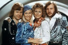The four members of the Swedish pop group ABBA turn out for the opening of a Stockholm restaurant based on the Greek taverna in the Mamma Mia! film and musical. Mamma Mia, Eurovision Song Contest, Eurovision Songs, Banda Abba, Les Bee Gees, Stockholm, Does Your Mother Know, All Lyrics, Nostalgia