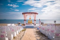 Stunning beach side mandap set up in pastel colours Pastel Flowers, Pastel Colors, Pastels, Colours, Flower Decorations, Wedding Decorations, Table Decorations, Wedding Places, Wedding Things