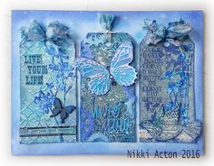 Addicted to Art - Monochromatic Distress tags