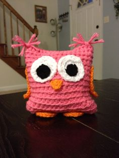 Hand crocheted Stuff Owl