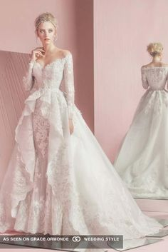 zuhair murad layered wedding dress