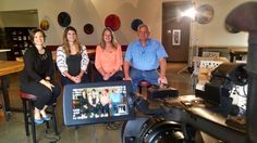 Winery owners Deborah Barnard, Rob Griffin and daughters Elise Jackson and Megan Hughes during a Barnard Griffin Winery interview by NPR in 2015.  #WAwine #Wine #TriCitiesWA