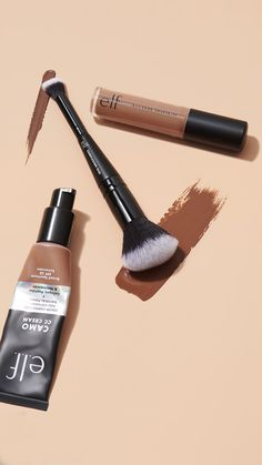 4 skin care ingredients we love in the #elfcosmetics Camo CC cream. #ad Foundation With Spf, Dream Cream, Textures And Tones, Becca Cosmetics, Even Out Skin Tone, Skin Care Cream, Cc Cream, Collagen, Camo