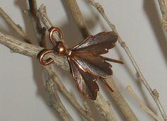 Vintage Copper Bug Brooch