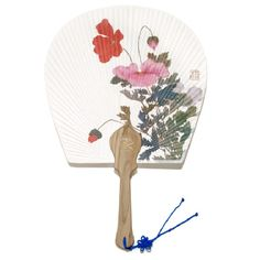 fan021a Shop Fans, Hand Held Fan, National Museum, Wooden Handles, Poppies, Korea, Arts And Crafts, Flowers, Handmade