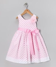 Take a look at this White Eyelet Dress - Girls by Plum Pudding on today! Little Dresses, Little Girl Dresses, Cute Dresses, Girls Dresses, Summer Dresses, Toddler Dress, Baby Dress, White Eyelet Dress, Kids Frocks
