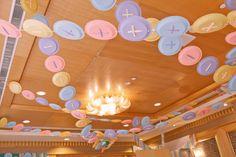Button garland at a Lalaloopsy Party #lalaloopsy #buttongarland