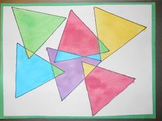 Neat (and colorful!) idea for helping kiddos see different types of triangles.