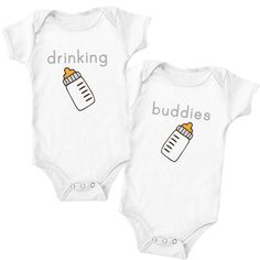 NOT JUST BROTHERS//SISTERS BEST FRIENDS TOO New Twin Baby Bodysuits//Grows//Vests