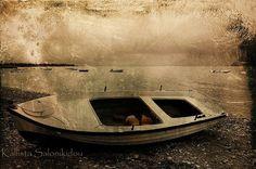 """Argo"" Boat Seascape Sepia Photography | Kallista Salonikidou"