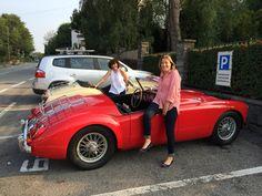 My MGA with good friend...Triumph TR3!