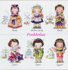 Traditional Costumes G22 Counted Cross Stitch by PinkNelie