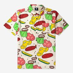 "Lazy Oaf ""Ingredients"" shirt Funky Fashion, Mens Fashion, Fashion Ideas, Rich Boy, Lazy Oaf, S Shirt, Fashion Labels, Food Print, Button Up Shirts"