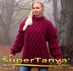 Made to order thick hand knitted mohair sweater in by supertanya