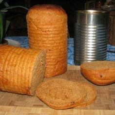 Make tin-can sandwich bread as a portable food option for camping