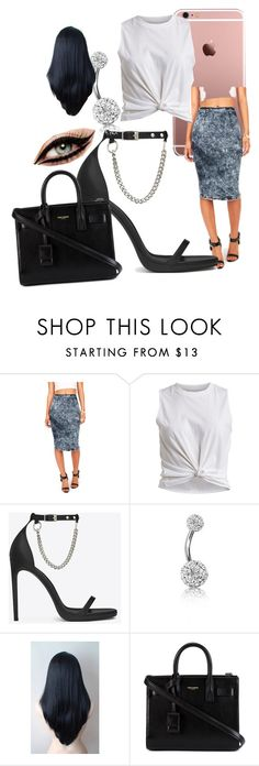 """Untitled #169"" by jadab521 ❤ liked on Polyvore featuring VILA, Yves Saint Laurent and Bling Jewelry"