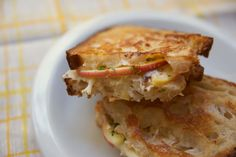 grilled cheese: Goat Gouda with Mustard Apple Salad