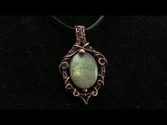 Free Form Swirly Bezel Cabochon Pendant Wire  Wrapping Tutorial - YouTube