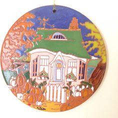Releitura de Alida Akers Cerâmica corda-seca Por Lília Trevisan