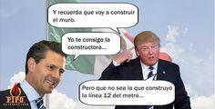 Peña Nieto  y Trump Arreglando el mundo.