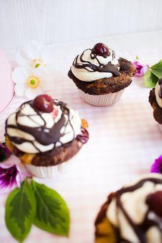 Low Carb Donauwellen Cupcakes – Low Carb Köstlichkeiten
