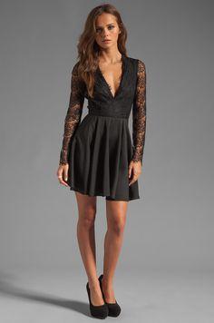 keepsake Need Your Love Long Sleeve Dress in Black