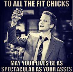 Gym humor....fit chicks