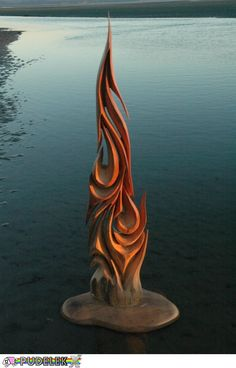 Wood carving from the sea