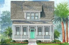 The Cottages - Waterside, model rendering