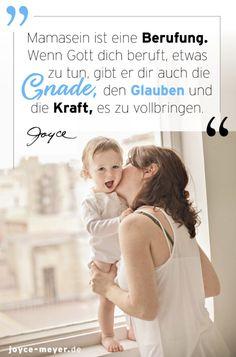 """Hey, liebe Mama! Du bist dazu berufen, Mutter zu sein. 🤗 Hier findest du eine warme Ermutigungsdusche von Joyce Meyer in der Leseprobe vom Buch """"Zuversicht, Mama!"""". #joycemeyer #ermutigung #mamasein #berufung #mamaleben #mamazitate #kindererziehen #kindererziehensprüche #familienleben #mama #mamazitate #muttertag #muttertagsgeschenk #muttertag2021 Joyce Meyer, Kids, Cheer Up, Dear Mom, Disciplining Children, Christianity Quotes, Life Motto, Single Parent, Encouragement"""