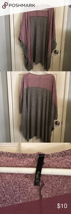 Long shrug sweater. Two tone. Long shrug sweater. Two tone. Size large. Cute on. Gently worn 😊 Yoyo 5 Sweaters Shrugs & Ponchos