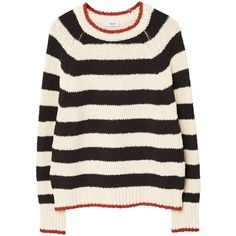 MANGO Stripe pattern sweater ($60) ❤ liked on Polyvore featuring tops, sweaters, clothing - ls tops, stripped sweater, striped top, striped sweater, long sleeve sweater and stripe top