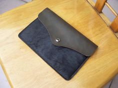 Rustic Leather  Horse Leather 13 Macbook Sleeve by cuoiocasa, $46.99