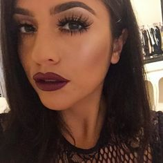 """Deanna Paley on Instagram: """"@hudabeauty lashes in Scarlett tho  #obsessed Diva on the lips lined with Burgundy pencil both Mac"""""""