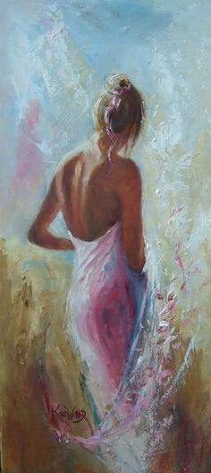 """"""" by Karen Wallis Wallis, Woman Painting, French Artists, Color Of The Year, Oeuvre D'art, Art Forms, Female Art, Fantasy Art, Art Gallery"""