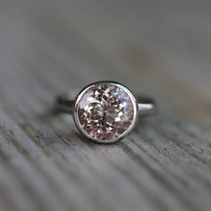 MORGANITE and 14k Palladium White Gold Ring Made by onegarnetgirl, $1498.00