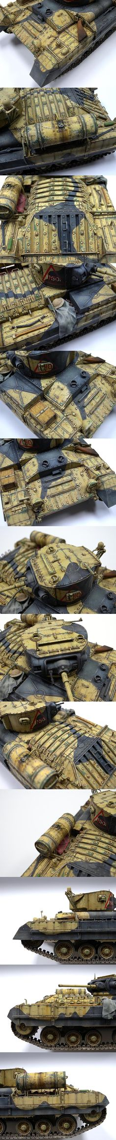 I'm not into tanks, but this paint job is too good not to have as a reference.  Orig. Pin info: Valentine II 1/35 Scale Model