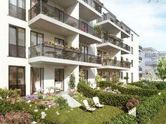 Privatgärten im Erdgeschoss. #wohnen #berlin #eigentumswohnung Weitere Informationen: http://www.arnouxstrasse.berlin/