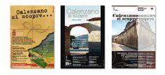 """Comune di Calenzano - Manifesti programma """"Calenzano si Scopre"""". Realizzazione: Agenzia Verde"""