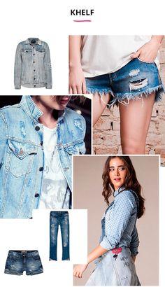 O jeans também pode ser para lá de básico e essencial na produção descolada. Para isso, as jaquetas, calças e shorts em denim da Khelf são a escolha certeira. Amamos os diversos modelos que a marca oferece.